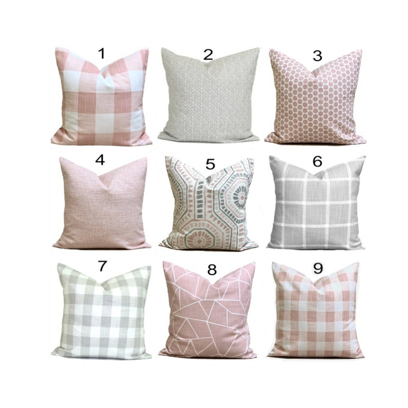 Blush Pink Pillow Cover Blush Pillow Decorative Pillow image 0