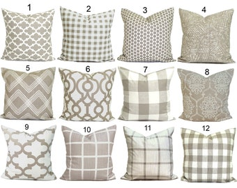 Tan Throw Pillow, Tan Pillow COVER. Neutral Throw Pillow, Neutral Pillow Cover