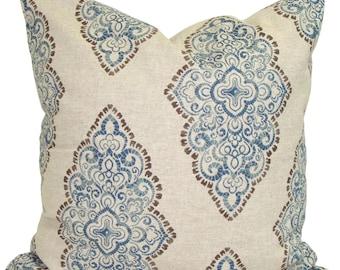Blue Pillows, Blue Pillow COVER, Blue Throw Pillow