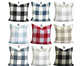 Buffalo Check Pillow Covers, Plaid Pillows. Check Pillow, Gingham Pillow, Throw Pillow, Farmhouse Pillow, Pillow Sham.Euro Sham.cm.All Sizes