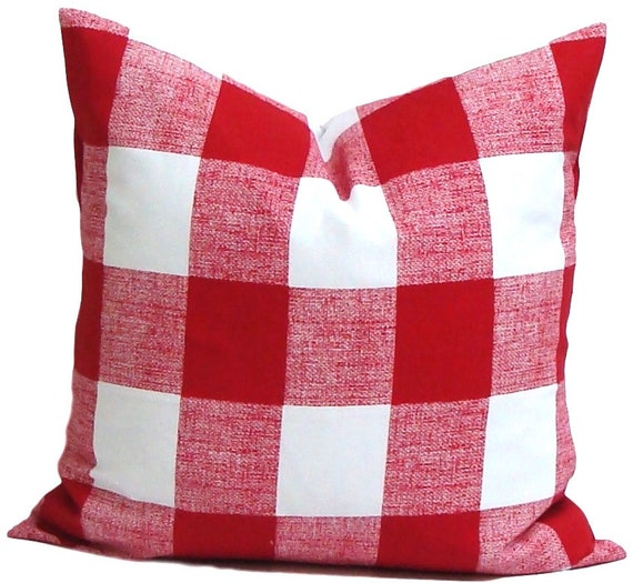 Christmas Pillow, Christmas Decor, Farmhouse Pillow Cover, Farmhouse Decor,  Check Pillow Cover