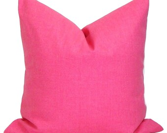 SOLID PINK PILLOW.18x18 inch Decorative Pillow Cover.Toss Pillow Cover. Throw Pillow Cover. Sofa Pillow Cover. Solid Pink Cushion Cover, cm