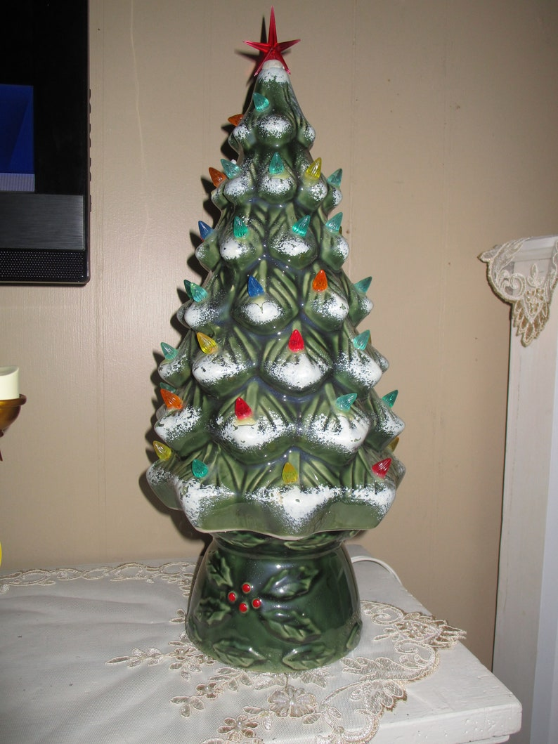 Sale Vintage Ceramic Lighted Christmas Tree Eclectic Christmas