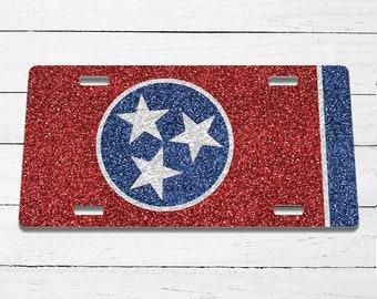 Tennessee License Plate Custom Car Tag Custom License Plate Personalized License Plate Tea Stained