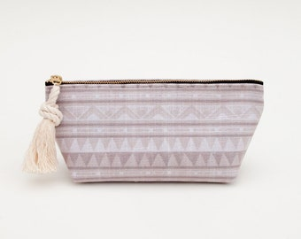 Desert Beach Zip Pouch Cosmetic Case Toiletry Bag