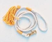 Yellow Maize Dog Leash / Goldenrod / Rope Dog Leash Wedding