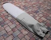 Grey Canvas Color Blocked Surfboard Bag Board Bag Longboard Single Fin