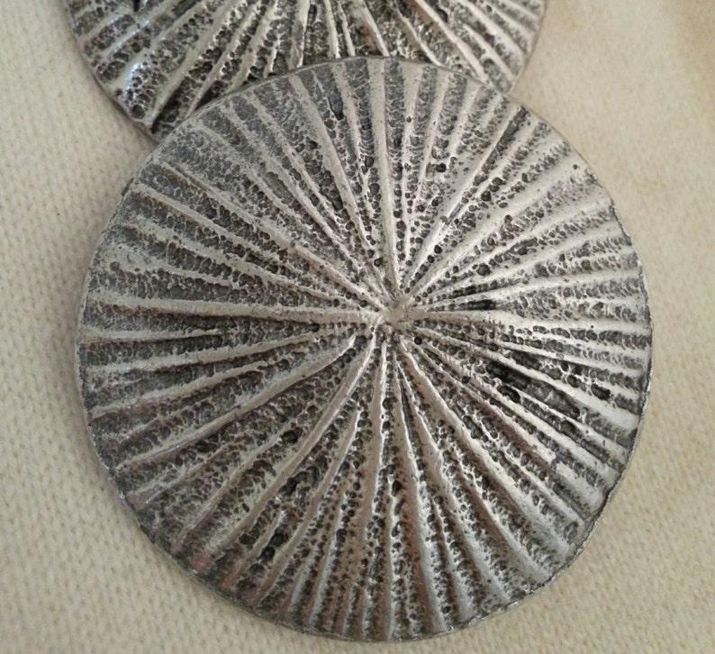 50/%OFF Sunburst silver tone vintage metal buckle