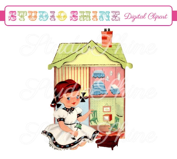 Cute digital doll house. Virtual doll house, includes a living room with  polka dots, and many cute things if you look around.