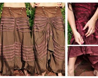 brown full length skirt