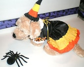 DOG COSTUME, witch dog costume, candy corn witch quot , Dog Costume, Halloween For Pets