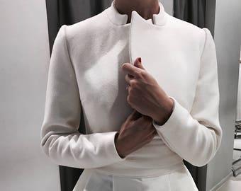 Bridal coat, Wedding cashmere coat, Wedding cover up, Coat for bride, Bridal  wool jacket, White wool jacket, Fall wedding, jacket for bride