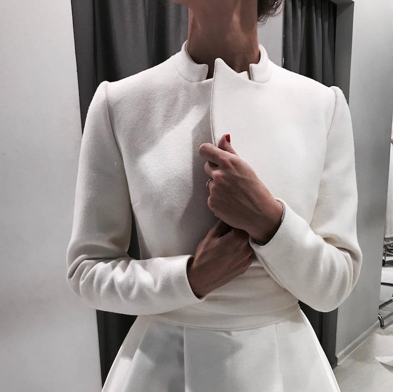 Bridal coat Wedding cashmere coat Wedding cover up Coat for image 0