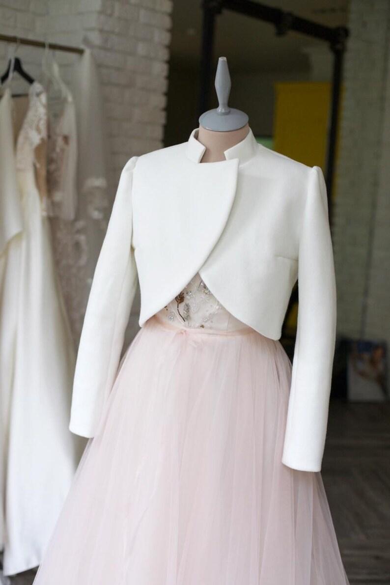 Bridal cashmere jacket Bridal jacket Wedding cover up Bridal coat Wool wedding jacket Wedding cashmere coat Ivory jacket bride coat