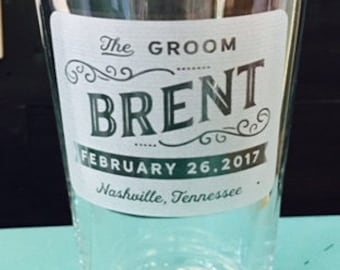 Personalized Groomsmen Gifts Engraved Pint Beer Glasses, ANY QUANTITY, 16oz Glass