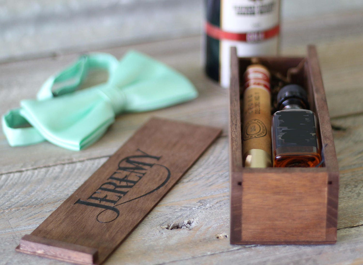 Groomsmen Gift Wood Box Groomsman Cigar Gift Box Best Man Whiskey Cigar Box Will You Be My Groomsmen Gift Laser Engraved Free Shipping