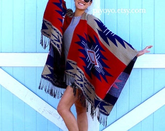 kimono cardigan red white blue scarf PIYOYO unique woman gift poncho for woman Most sold best selling item