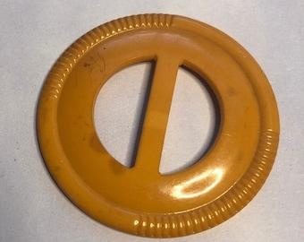ON  SALE Vintage Orange Plastic Woman's Belt Buckle  Item: Orange