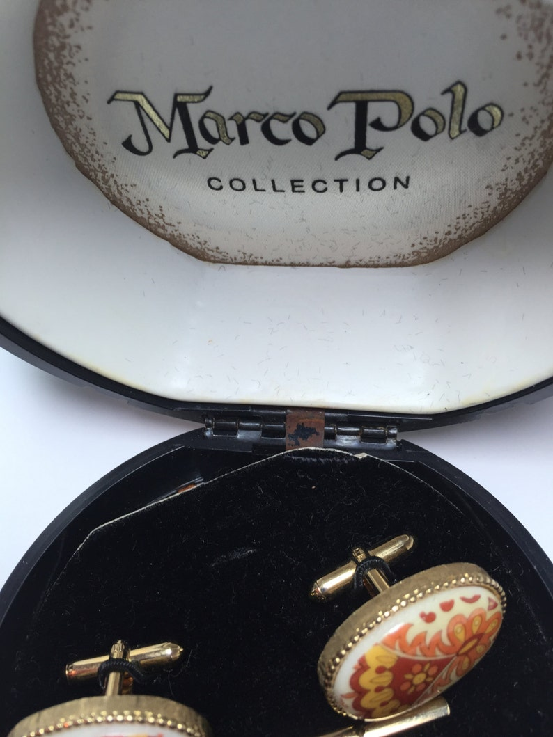 ON SALE RARE  Marco Polo Collection Cufflink /& Tie Tac   Item 17221