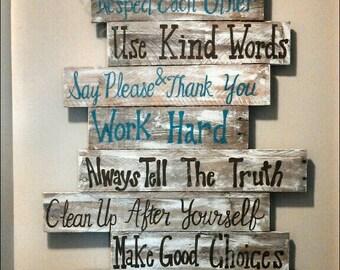 Wood Signs Sayings Etsy