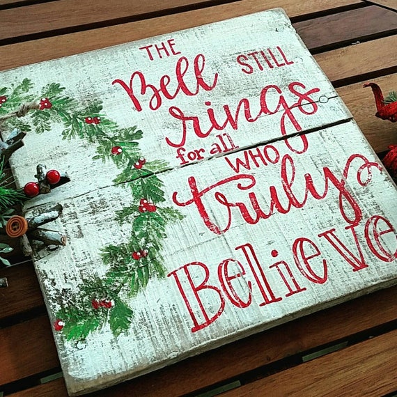 Christmas Wood Signs.The Bell Still Rings Sign Christmas Signs Christmas Decor Christmas Wood Sign Wood Signs Wood Signs Sayings Holiday Signs