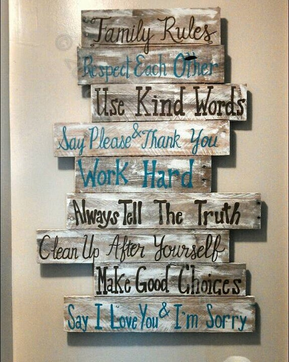 House Rules Sign Family Rules Sign Wood Signs Wood Signs Etsy