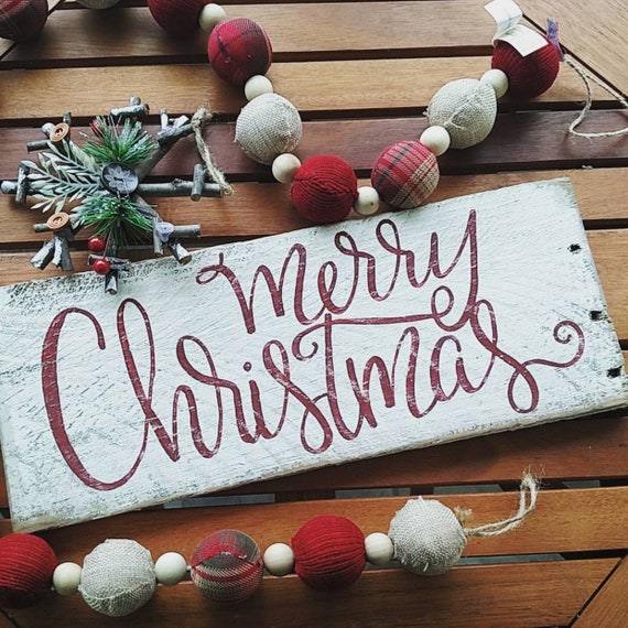 Merry Christmas Sign Christmas Signs Wood Signs Wood Signs Etsy