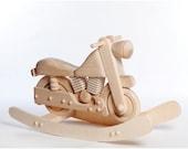 Wooden Rocking Motorcycle, UNPAINTED Rocker Motorcycle, Wooden Rocking Toy, Motorcycle for Children, Children Motorcycle