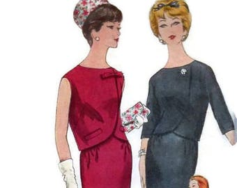 Vogue 4254 Sewing Pattern Mod Retro Jackie O Style Wiggle Sheath Dress Bolero Jacket Size 12