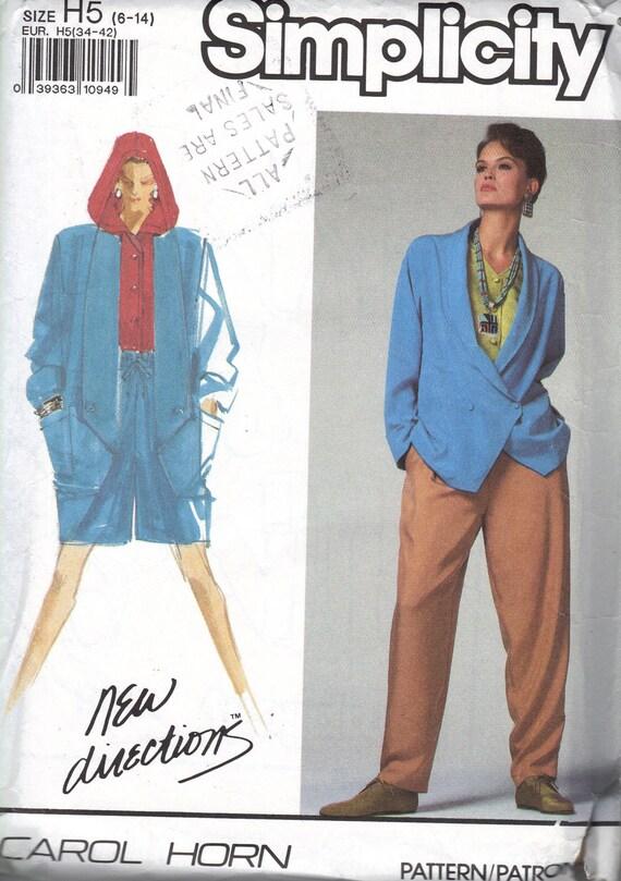 Einfachheit der 90er Jahre Nähen Muster übergroße Jacke | Etsy