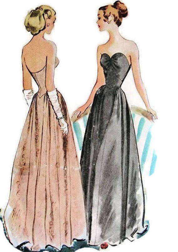 McCall\'s 6733 Sewing Pattern 1940s Debutante Ball Gown | Etsy