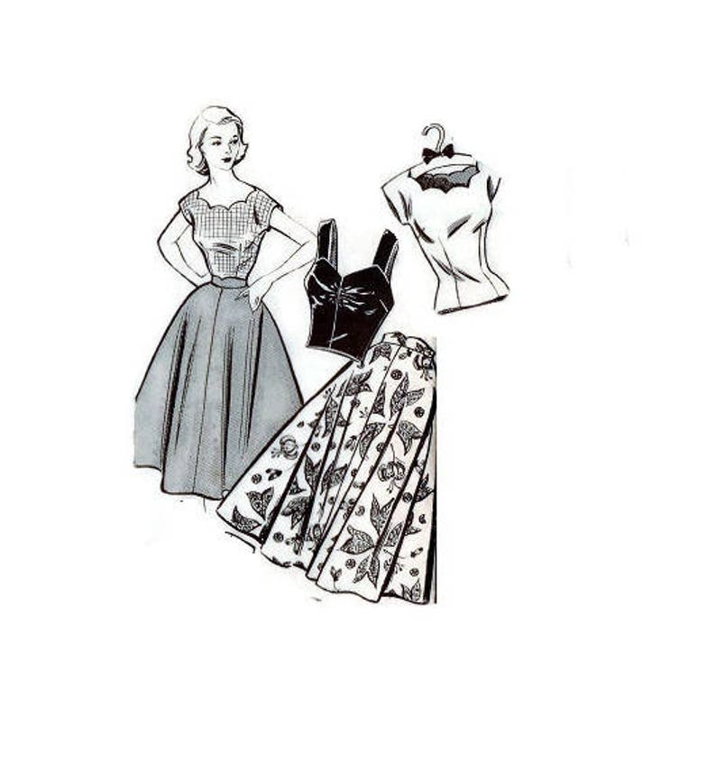 1950er Jahre Versandhandel Nähen Muster Mode Bureau Kreis Rock Etsy
