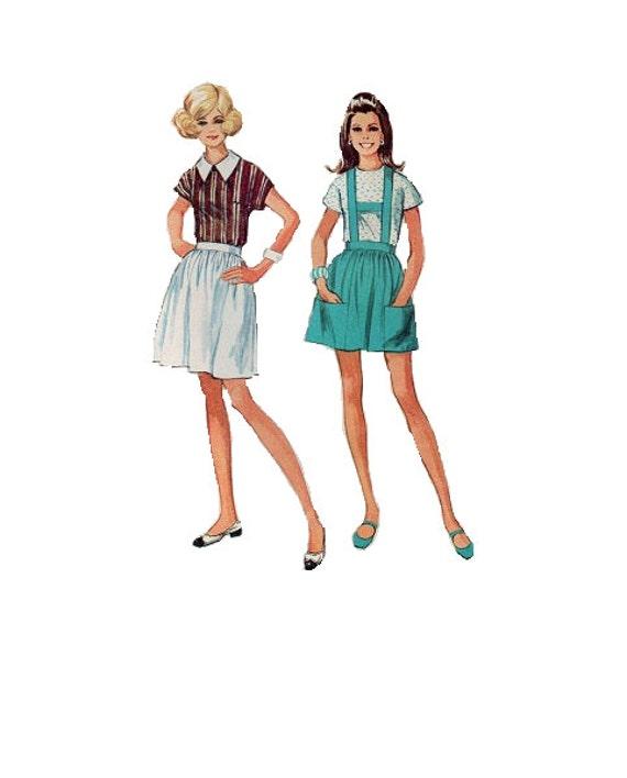 60er Jahre retro Bluse Einfachheit Nähen Muster voll Fit