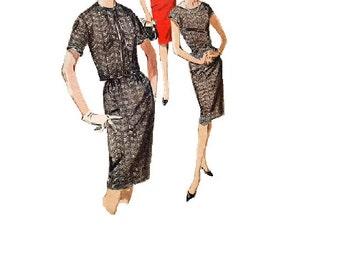 Butterick 2636 Sewing Pattern 1960s Mad Men Style Wiggle Dress Cropped Jacket Jackie O Basic Sheath Retro Fashion Bust 36
