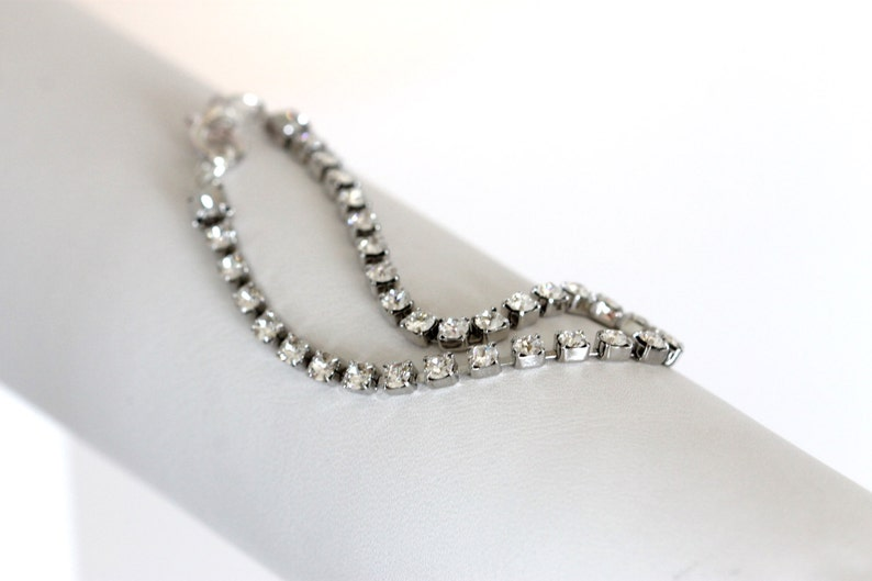 5f3f4c145083d faux diamond tennis bracelet, bridal bracelet, vintage style fake diamond  bracelet, cocktail, Swarovski crystals, classic cocktail bracelet