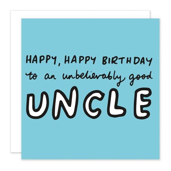 Alles Gute Zum Geburtstag Unglaublich Gute Onkel Karte Etsy