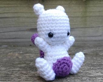 Pokemon Mewtwo Crochet Amigurumi Mini Doll