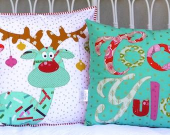 Cool Yule christmas cushion set. PDF pattern