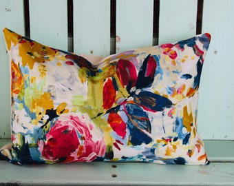 Floral Throw Pillows Etsy