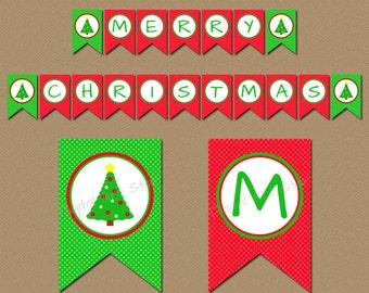 Merry Christmas Banner Printable, Holiday Banner Printable, Christmas Decor, Holiday Party Decorations, Holiday Decor Printable Banner C4