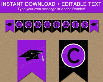 graduation banner 2018 congratulations banner editable etsy