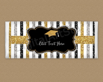 Editable Candy Bar Wrappers Graduation, Graduation Favors for Adults, Chocolate Wrapper Template, Candy Bar Label Graduation Printable G9