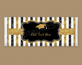 Graduation Candy Wrappers - College Graduation Favors 2021 for Guests - High School Graduation Party Favors - Chocolate Wrapper Template G9