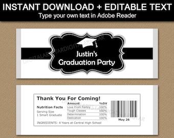 Graduation Chocolate Wrappers, Graduation Party Favors, Graduation Candy Bar Wrapper Template, Printable Candy Wrappers Graduation G1