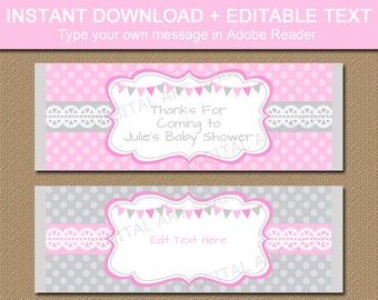 Candy Bar Wrapper, Printable Chocolate Bar Wrapper, Baby Shower Favors, First Birthday Favors, Bridal Shower Favors, Wedding Favor Ideas BB9