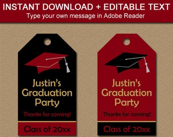 Graduation Gift Tag Printable, High School Graduation Tag DIY Printable Graduation Decor, College Graduation Party Favor Tag Template G1