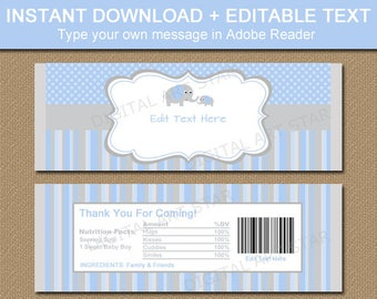 Girl Baby Shower Candy Wrappers Printable Woodland Candy Bar Etsy