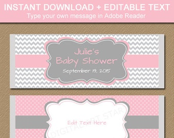 Printable Candy Bar Wrappers - EDITABLE Chocolate Bar Wrappers - Baby Shower Chocolate Wrapper - Bridal Shower Candy Wrapper - Birthday BB1
