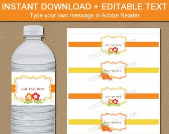 Fall Wedding Water Bottle Labels, Fall Baby Shower Water Bottle Labels, Fall Party Decor, Autumn Wedding Ideas, Fall Bridal Shower Ideas B7
