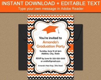 High School Graduation Invitation Template, High School Grad Party Invite, Senior Graduation Invitation 2021, Graduation Printable Invite G3